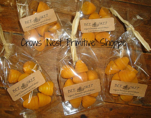 Scented Beeswax Bee Skep Shaped Melts