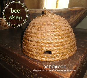 Bee Skep-Medium Woven and Dipped