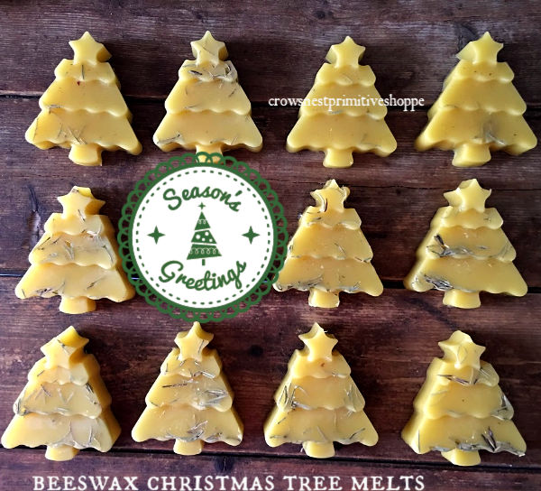 Scented Beeswax Christmas Tree