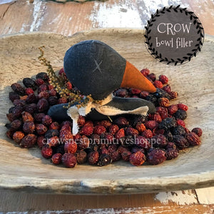 Bowl Filler- Fabric Crow Head
