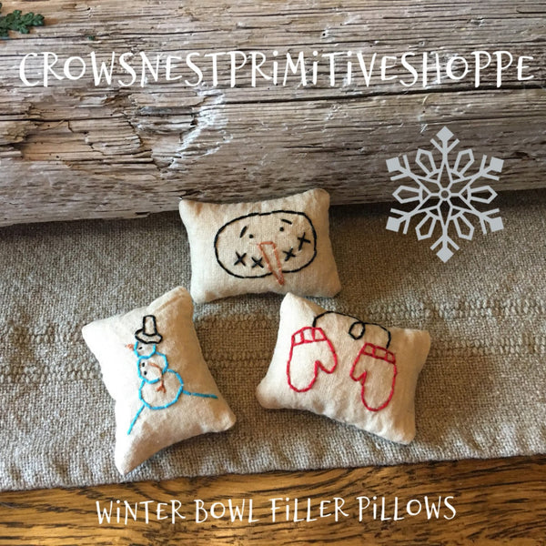 Bowl Filler- Mini Winter Pillow Set