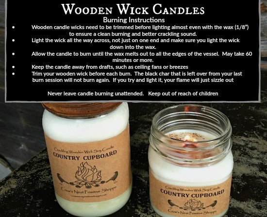Candle-Soy Wooden Wick 8 ounce
