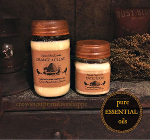 Candle-Soy Mason Jar with Pure Essential Oils
