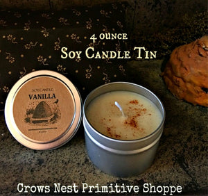 Candle-Soy Tin Container 4 ounce