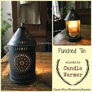 Candle Warmer- Punched Tin Lantern