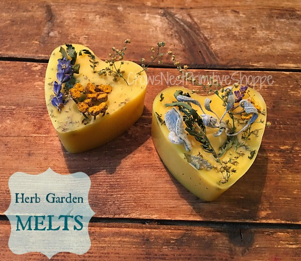 Scented Beeswax Hearts-Herb Garden Set of 2