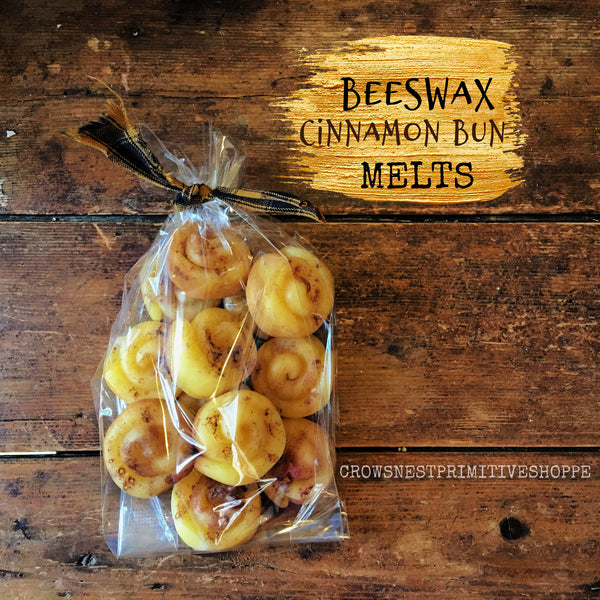 Cinnamon Bun Scented Beeswax Melts