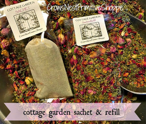 Organic Cottage Garden Herbal Sachet Bag and Refill