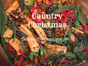 Country Christmas Potpourri Packaged