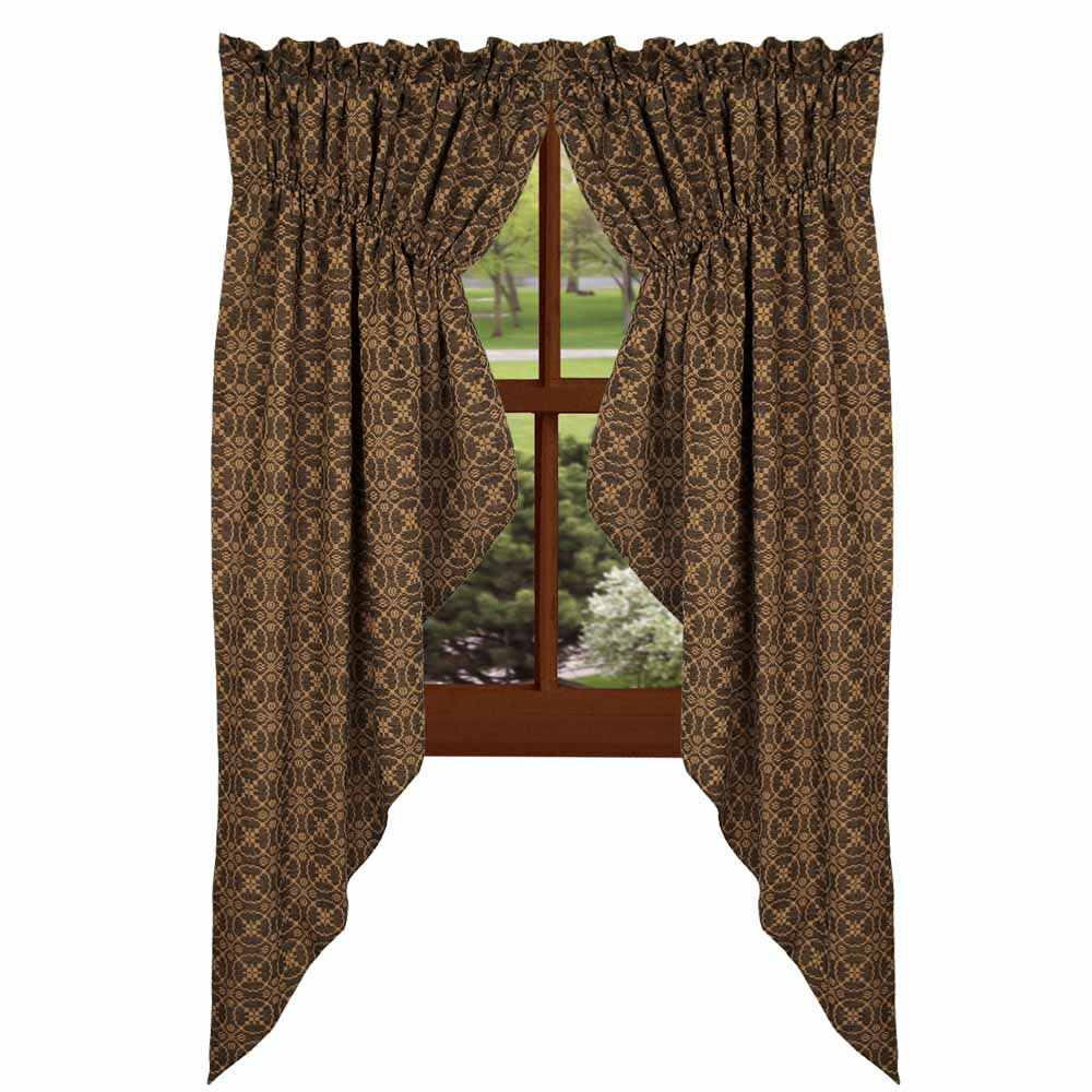 Marshfield Jacquard Swag Curtain- Black