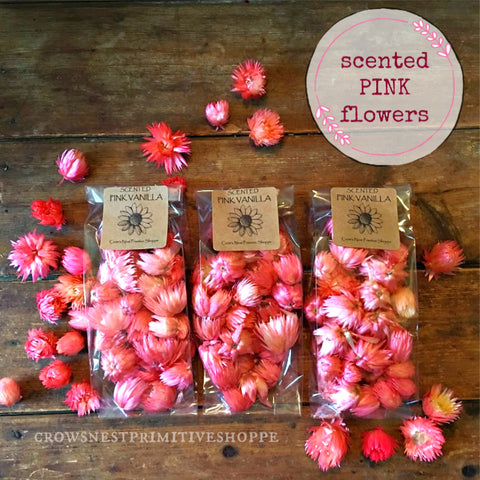 Potpourri-Scented Pink StrawFlowers