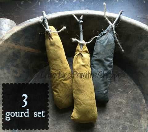 Fabric Gourd Set of 3