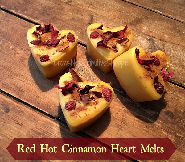 Scented Beeswax Red Hot Cinnamon Melts-set of 4
