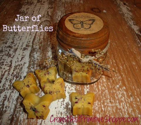 Jar of Beeswax Butterflies