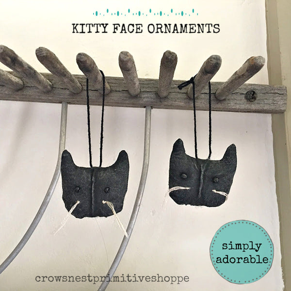 Kitty Face Ornament