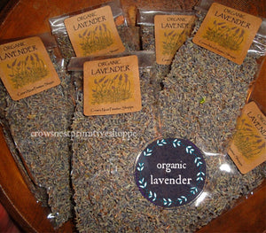 Organic Lavender Blossoms- 1 cup packaged