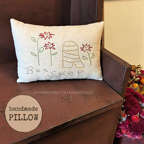 Pillow- Handmade Bee Skep