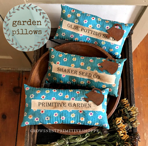 Pillow- Garden with Rusty Watering Can
