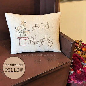 Pillow- Handmade Spring Blessings