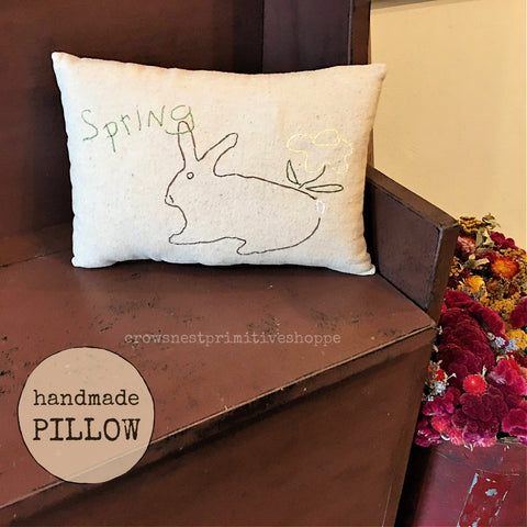 Pillow- Handmade Spring Rabbit