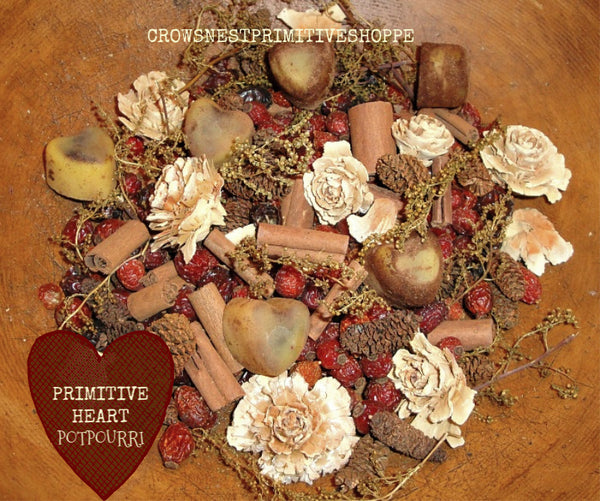 Primitive Heart Potpourri Packaged