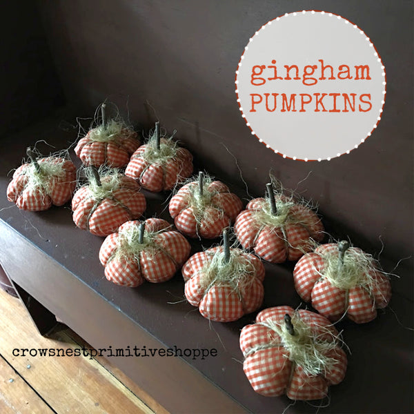 Fabric Gingham Pumpkin