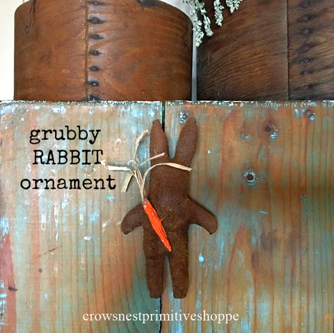 Grubby Rabbit Ornament