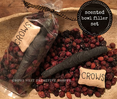 Scented Rosehip Bowl Filler Set-Crow