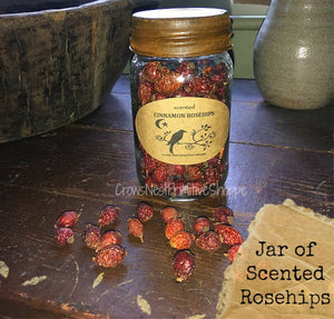 Jar of Scented Rosehips