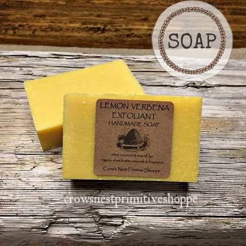 Handmade Soap- Lemon Verbena Exfoliant