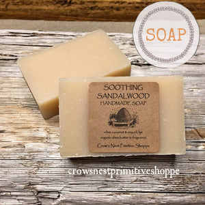Handmade Soap- Soothing Sandalwood
