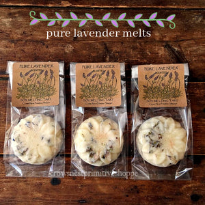 Soy Wax Flower Shaped Melt-Pure Lavender