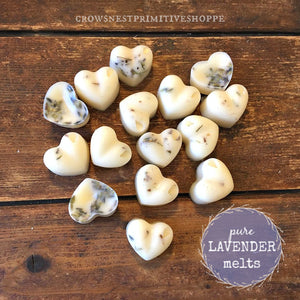 Scented Lavender Heart Shaped Soy Melts