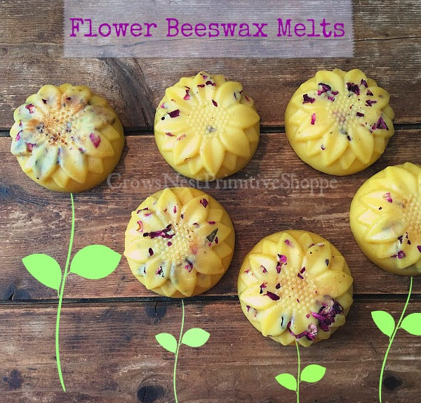 Beeswax Flower Shaped Melt-Prairie Rose