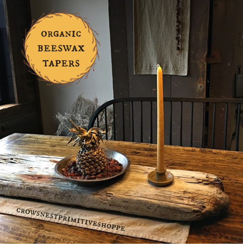 Beeswax Taper Candle-12 inch