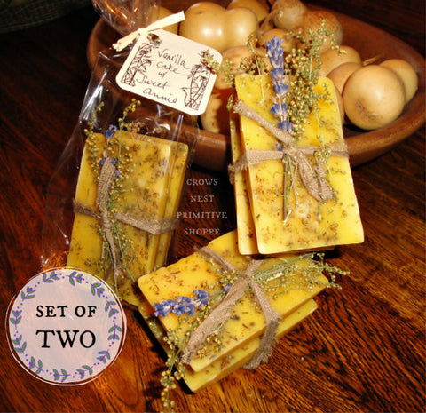 Scented Beeswax Sweet Annie Vanilla Cake Set