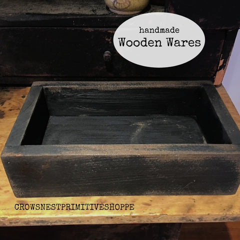 Wooden Box- Black