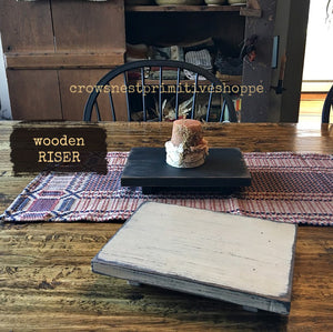 Wooden Riser- 10 inch Rectangle