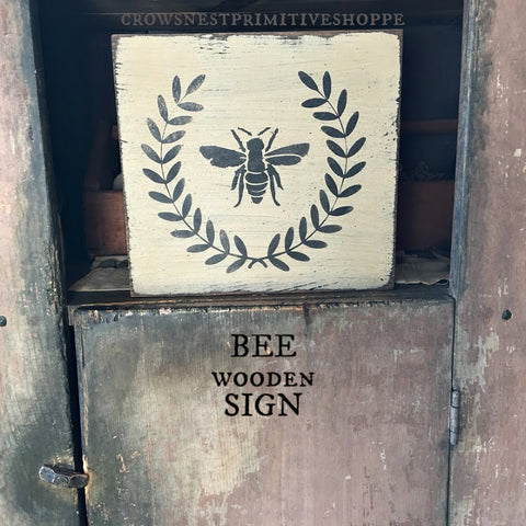 Wooden Sign- Bee
