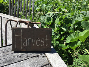 Wooden Sign- Harvest