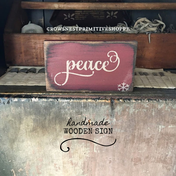 Wooden Sign- Peace