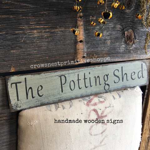 Wooden Sign- The Potting Shed