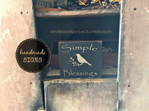 Wooden Sign- Simple Blessings