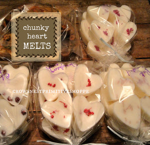 Wholesale Scented Chunky Heart Melts-set of 6