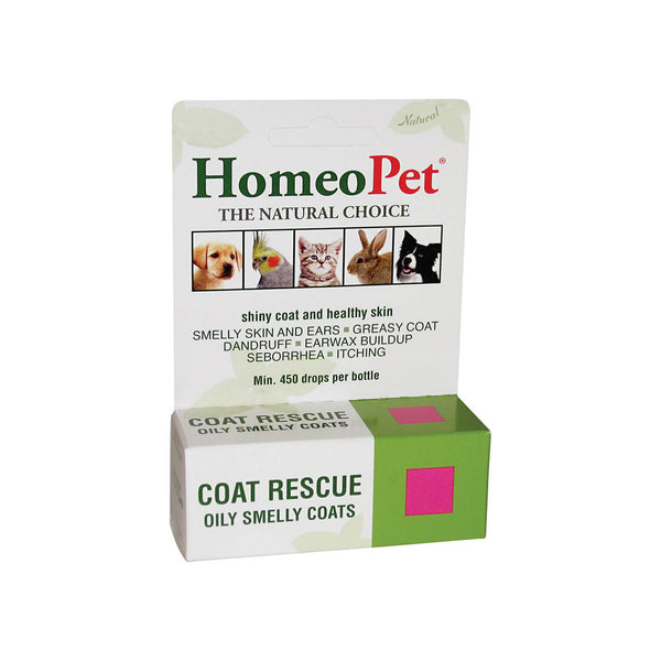 HomeoPet Coat Rescue Homeopathic Formula for Dogs & Cats