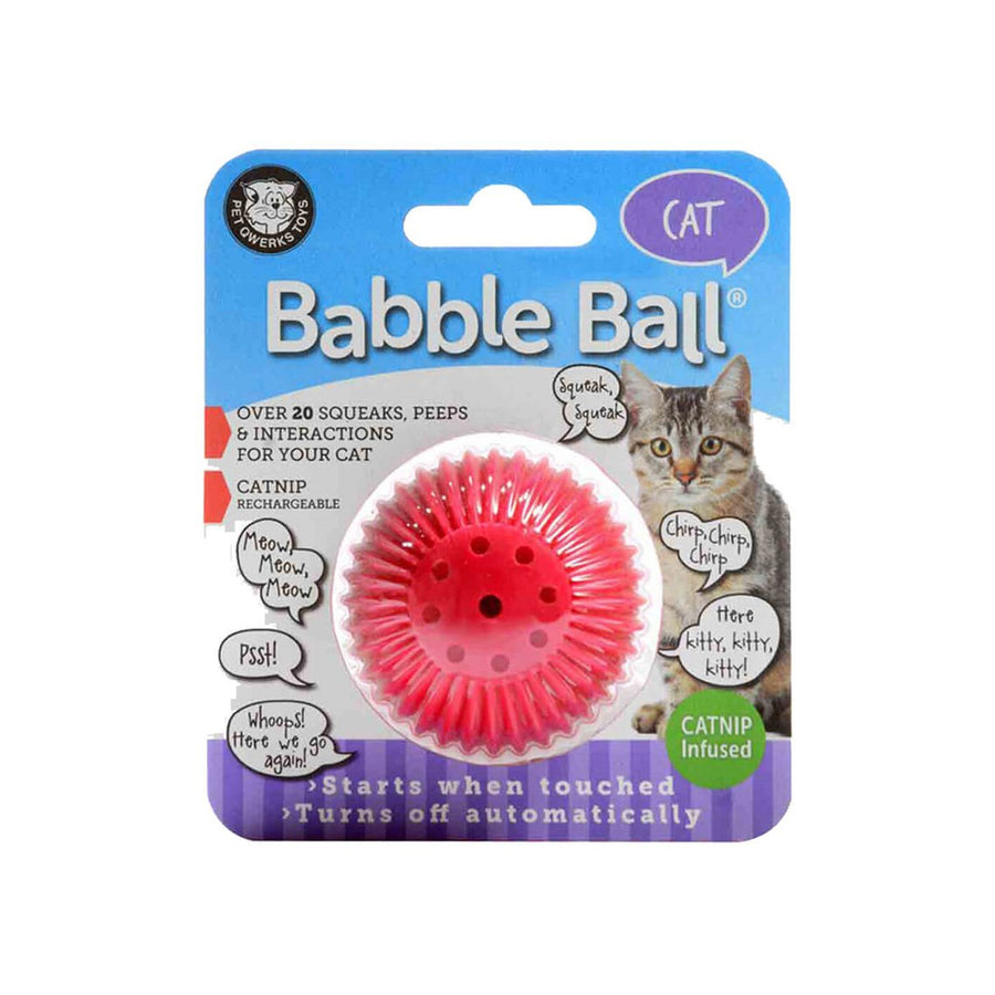 Pet Qwerks Babble Ball Noise Making Dog Toy