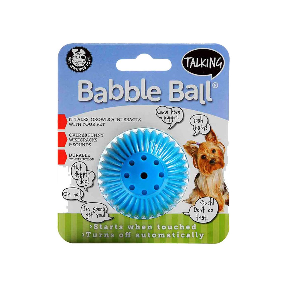 Pet Qwerks Babble Ball Noise Making Dog Toy – Only Natural Pet