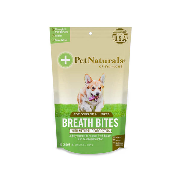 Pet Naturals Breath Bites for Dogs 60 Soft Chews