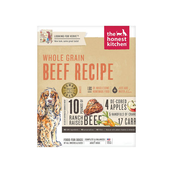 Honest Kitchen Whole Grain Beef Recipe Dehydrated Dog Food