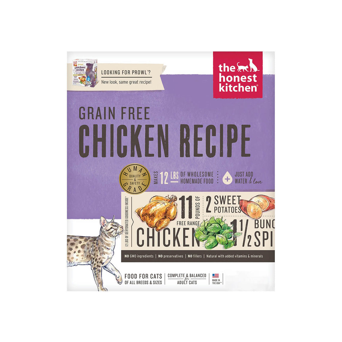 Honest Kitchen Prowl Grain Free Dehydrated Cat Food Only